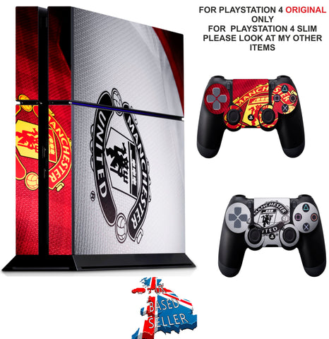 MANCHESTER UNITED PS4 *TEXTURED VINYL ! * PROTECTIVE SKINS DECAL WRAP STICKERS