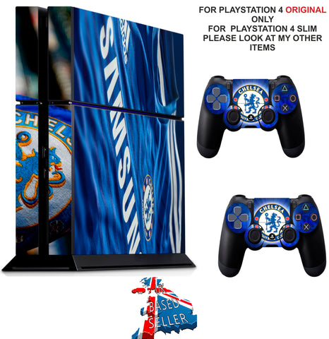 CHELSEA PS4 *TEXTURED VINYL ! * PROTECTIVE SKINS DECAL WRAP STICKERS