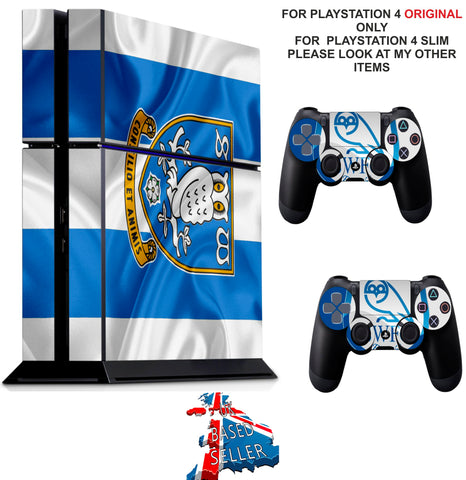 SHEFFIELD WEDNESDAY PS4 *TEXTURED VINYL ! * PROTECTIVE SKINS DECAL WRAP STICKERS