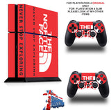 NORTH FACE PS4 *TEXTURED VINYL ! * PROTECTIVE SKINS DECAL WRAP STICKERS