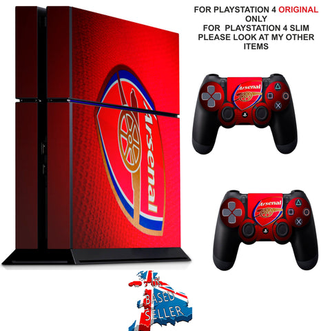 ARSENAL PS4 *TEXTURED VINYL ! * PROTECTIVE SKINS DECAL WRAP STICKERS
