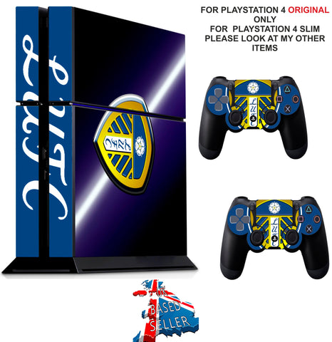 LEEDS UTD PS4 *TEXTURED VINYL ! * PROTECTIVE SKINS DECAL WRAP STICKERS