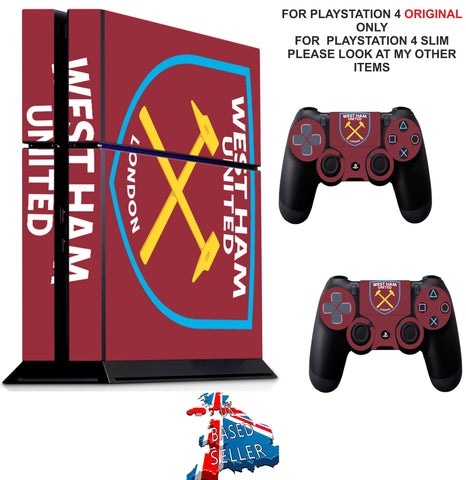 WEST HAM PS4 *TEXTURED VINYL ! * PROTECTIVE SKINS DECAL WRAP STICKERS