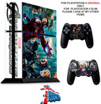 AVENGERS PS4 *TEXTURED VINYL ! * PROTECTIVE SKINS DECAL WRAP STICKERS