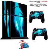 NIKE TICK BLUE PS4 *TEXTURED VINYL ! * PROTECTIVE SKINS DECAL WRAP STICKERS