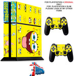 SPONGEBOB PS4 *TEXTURED VINYL ! * PROTECTIVE SKINS DECAL WRAP STICKERS