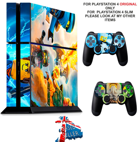 LEGO NINJAGO PS4 *TEXTURED VINYL ! * PROTECTIVE SKINS DECAL WRAP STICKERS