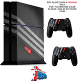 ADIDAS TEXTURE PS4 *TEXTURED VINYL ! * PROTECTIVE SKINS DECAL WRAP STICKERS