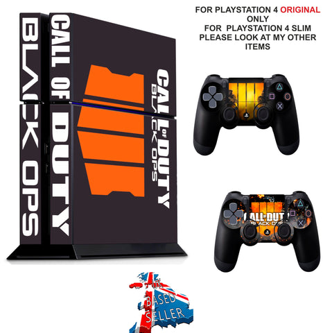 CALL OF DUTY BLACK OPS 4 PS4 *TEXTURED VINYL ! * PROTECTIVE SKINS DECAL WRAP STICKERS