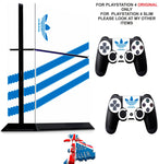 ADIDAS WHITE & BLUE PS4 *TEXTURED VINYL ! * PROTECTIVE SKINS DECAL WRAP STICKERS