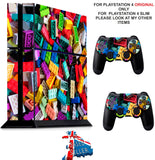 LEGO PS4 *TEXTURED VINYL ! * PROTECTIVE SKINS DECAL WRAP STICKERS