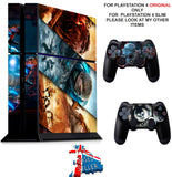 GEARS OF WAR PS4 *TEXTURED VINYL ! * PROTECTIVE SKINS DECAL WRAP STICKERS