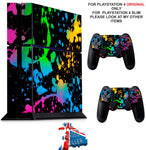 PAINT SPLAT PS4 *TEXTURED VINYL ! * PROTECTIVE SKINS DECAL WRAP STICKERS