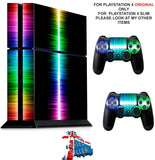 RAINBOW LINE PS4 *TEXTURED VINYL ! * PROTECTIVE SKINS DECAL WRAP STICKERS