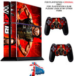 WWE 2K18 PS4 *TEXTURED VINYL ! * PROTECTIVE SKINS DECAL WRAP STICKERS