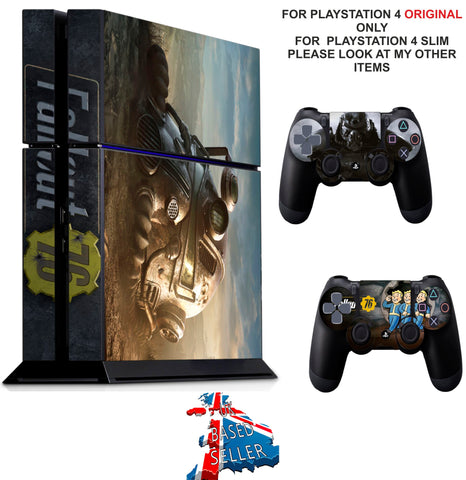 FALLOUT 76 PS4 *TEXTURED VINYL ! * PROTECTIVE SKINS DECAL WRAP STICKERS