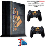 ADIDAS GOLD PS4 *TEXTURED VINYL ! * PROTECTIVE SKINS DECAL WRAP STICKERS