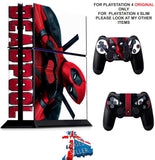 DEADPOOL 2 PS4 *TEXTURED VINYL ! * PROTECTIVE SKINS DECAL WRAP STICKERS