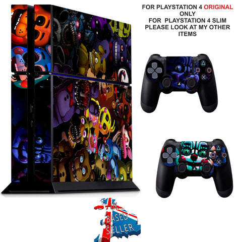FIVE NIGHTS AT FREDDY'S 5 PS4 *TEXTURED VINYL ! * PROTECTIVE SKINS DECAL WRAP STICKERS