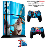 FROZEN PS4 *TEXTURED VINYL ! * PROTECTIVE SKINS DECAL WRAP STICKERS