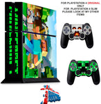 MINECRAFT PS4 *TEXTURED VINYL ! * PROTECTIVE SKINS DECAL WRAP STICKERS