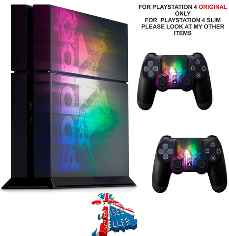 ADIDAS MULTI COLOUR STRIPE PS4 *TEXTURED VINYL ! * PROTECTIVE SKINS DECAL WRAP STICKERS