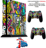 STICKER BOMB PS4 *TEXTURED VINYL ! * PROTECTIVE SKINS DECAL WRAP STICKERS