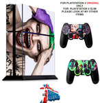 SUICIDE SQUAD 2 PS4 *TEXTURED VINYL ! * PROTECTIVE SKINS DECAL WRAP STICKERS
