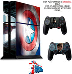 CAPTAIN AMERICA PS4 *TEXTURED VINYL ! * PROTECTIVE SKINS DECAL WRAP STICKERS