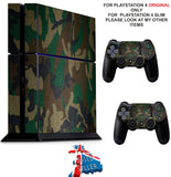 GREEN CAMO PS4 *TEXTURED VINYL ! * PROTECTIVE SKINS DECAL WRAP STICKERS
