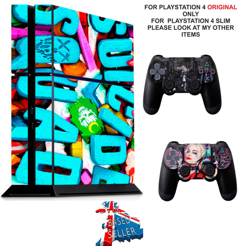 SUICIDE SQUAD PS4 *TEXTURED VINYL ! * PROTECTIVE SKINS DECAL WRAP STICKERS