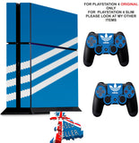 ADIDAS BLUE & WHITE PS4 *TEXTURED VINYL ! * PROTECTIVE SKINS DECAL WRAP STICKERS