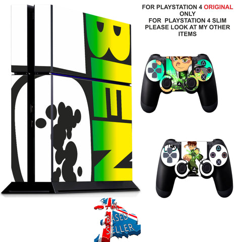 BEN 10 PS4 *TEXTURED VINYL ! * PROTECTIVE SKINS DECAL WRAP STICKERS