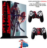 DEADPOOL PS4 *TEXTURED VINYL ! * PROTECTIVE SKINS DECAL WRAP STICKERS
