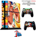 DRAGON BALL Z PS4 *TEXTURED VINYL ! * PROTECTIVE SKINS DECAL WRAP STICKERS