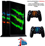 MONSTER DRINK PS4 *TEXTURED VINYL ! * PROTECTIVE SKINS DECAL WRAP STICKERS