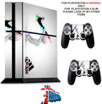NIKE & ADIDAS PS4 *TEXTURED VINYL ! * PROTECTIVE SKINS DECAL WRAP STICKERS