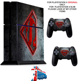 SUPERMAN PS4 *TEXTURED VINYL ! * PROTECTIVE SKINS DECAL WRAP STICKERS