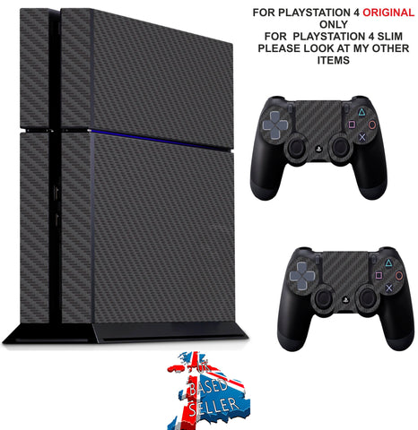 BLACK CARBON EFFECT PS4 *TEXTURED VINYL ! * PROTECTIVE SKINS DECAL WRAP STICKERS