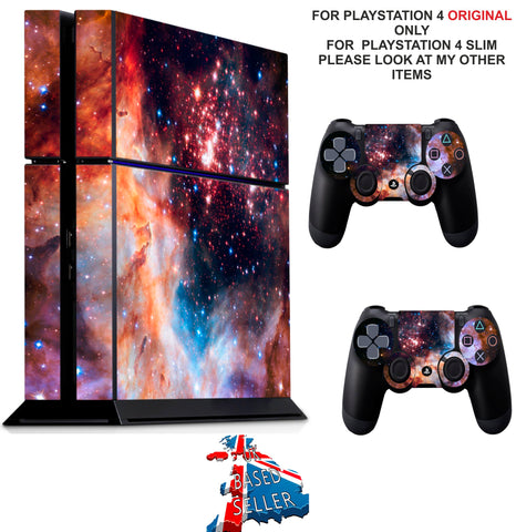 NEBULA 5 PS4 *TEXTURED VINYL ! * PROTECTIVE SKINS DECAL WRAP STICKERS