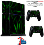 GREEN LEAF PS4 *TEXTURED VINYL ! * PROTECTIVE SKINS DECAL WRAP STICKERS