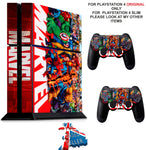 MARVEL PS4 *TEXTURED VINYL ! * PROTECTIVE SKINS DECAL WRAP STICKERS