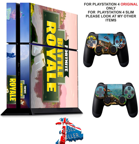 FORTNITE BATTLE ROYALE PS4 *TEXTURED VINYL ! * PROTECTIVE SKINS DECAL WRAP STICKERS