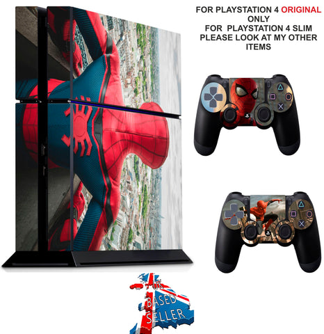 SPIDERMAN PS4 *TEXTURED VINYL ! * PROTECTIVE SKINS DECAL WRAP STICKERS