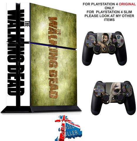 WALKING DEAD PS4 *TEXTURED VINYL ! * PROTECTIVE SKINS DECAL WRAP STICKERS