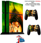 BOB MARLEY PS4 *TEXTURED VINYL ! * PROTECTIVE SKINS DECAL WRAP STICKERS