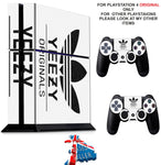 ADIDAS YEEZY PS4 *TEXTURED VINYL ! * PROTECTIVE SKINS DECAL WRAP STICKERS