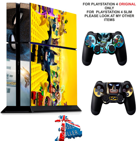 LEGO BATMAN PS4 *TEXTURED VINYL ! * PROTECTIVE SKINS DECAL WRAP STICKERS