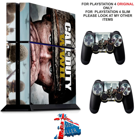 CALL OF DUTY WWII PS4 *TEXTURED VINYL ! * PROTECTIVE SKINS DECAL WRAP STICKERS