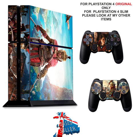 ASSASSINS CREED ODYSSEY PS4 *TEXTURED VINYL ! * PROTECTIVE SKINS DECAL WRAP STICKERS